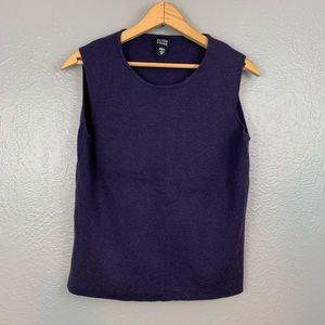 Eileen Fisher Merino Wool Purple Tank Top